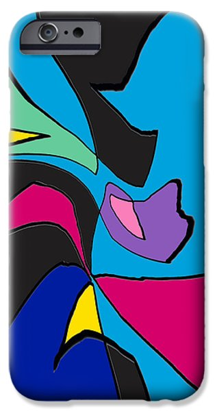 Abstract Digital Art iPhone Cases - Life Is Good By RjFxx. Original Abstract Art Painting iPhone Case by Rjf at beautifullart  RJ   Friedenthal