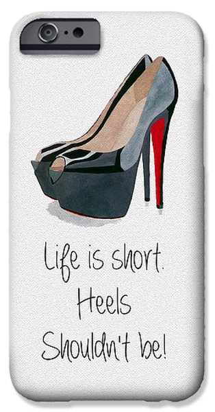 Original Mixed Media iPhone Cases - Life is Short iPhone Case by Rebecca Jenkins