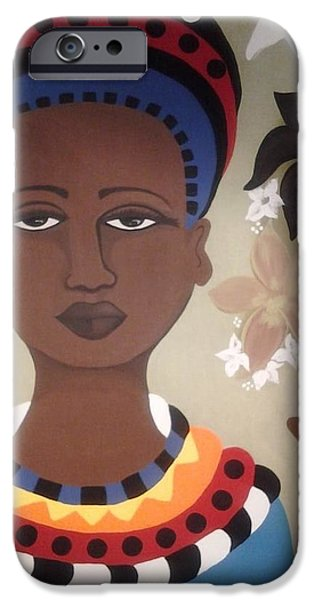African-americans Tapestries - Textiles iPhone Cases - Life is what you make it-Sold iPhone Case by Denise D Cooper