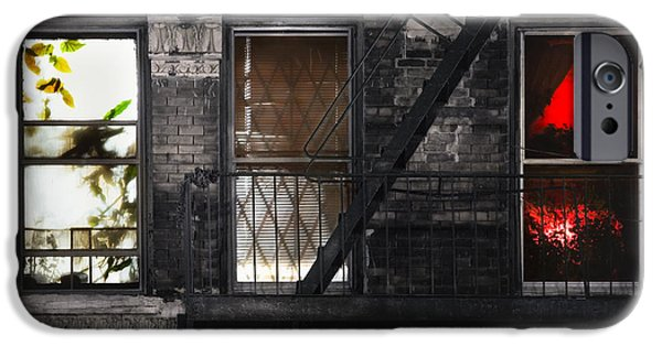 Window Of Life iPhone Cases - Life learning and love - Three windows and a story iPhone Case by Gary Heller