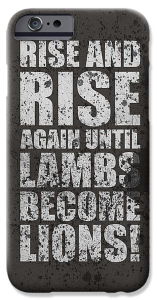 Rise iPhone Cases - Life Motivating Quotes Poster iPhone Case by Lab No 4 - The Quotography Department