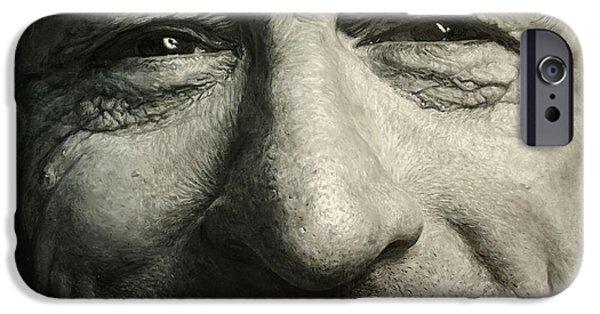 Robert De Niro Paintings iPhone Cases - Life No.1 iPhone Case by YKMeng