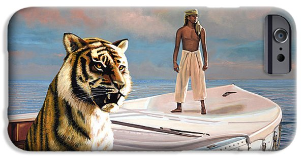Drama Paintings iPhone Cases - Life Of Pi iPhone Case by Paul  Meijering