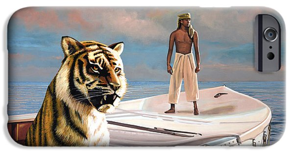 Celebrities Art iPhone Cases - Life Of Pi iPhone Case by Paul Meijering