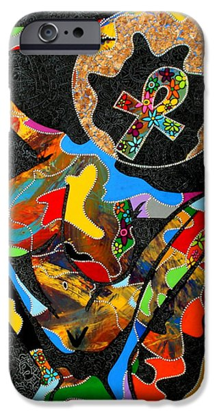 Fertility Paintings iPhone Cases - Life on Earth iPhone Case by Ramel Jasir