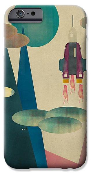 Star Nursery Paintings iPhone Cases - Life On Mars iPhone Case by Bri Buckley
