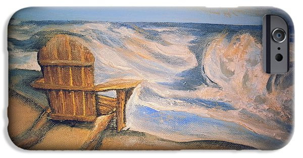 Adirondack Chairs On The Beach iPhone Cases - Life On the Beach iPhone Case by Tia Maria - Fine Artist