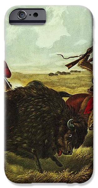 Life on the Prairie iPhone Case by Currier and Ives