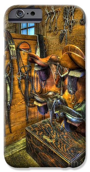 Equestrian Center iPhone Cases - Life on the Ranch - Tack Room iPhone Case by Lee Dos Santos