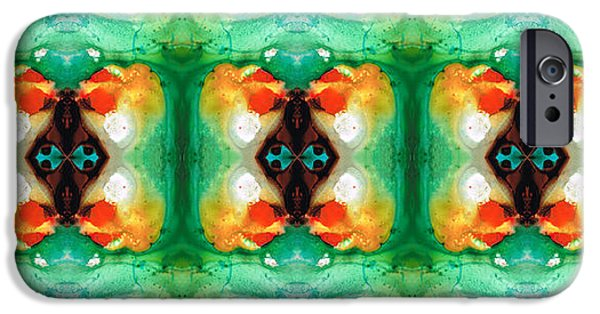 Wicca iPhone Cases - Life Patterns 1 - Abstract Art By Sharon Cummings iPhone Case by Sharon Cummings