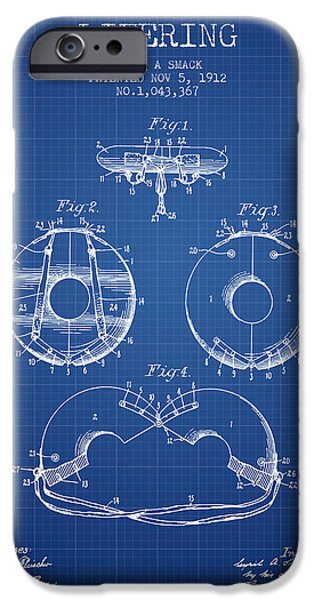 Savings iPhone Cases - Life Ring Patent from 1912 - Blueprint iPhone Case by Aged Pixel