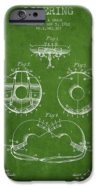 Savings iPhone Cases - Life Ring Patent from 1912 - Green iPhone Case by Aged Pixel