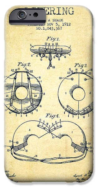 Savings iPhone Cases - Life Ring Patent from 1912 - Vintage iPhone Case by Aged Pixel