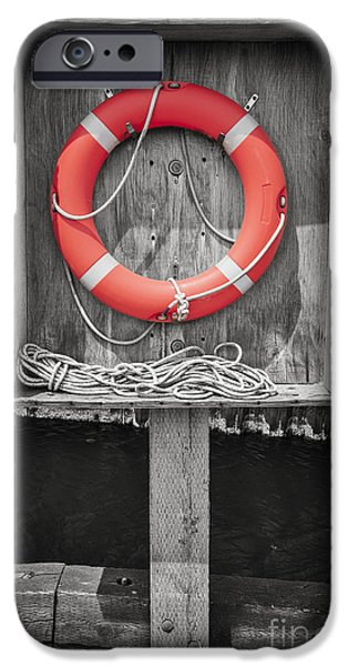 Selective Color iPhone Cases - Life saver iPhone Case by Elena Elisseeva