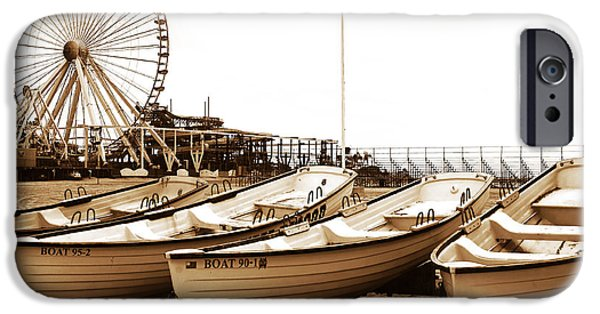 Jersey Shore iPhone Cases - Lifeguard Boats iPhone Case by John Rizzuto