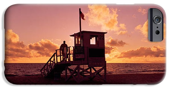 Getting Away From It All iPhone Cases - Lifeguard Hut On The Beach, 22nd St iPhone Case by Panoramic Images