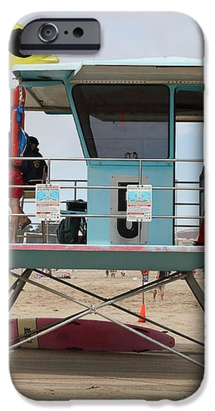 Lifeguard Shack At The Santa Cruz Beach Boardwalk California 5D23711 iPhone Case by Wingsdomain Art and Photography