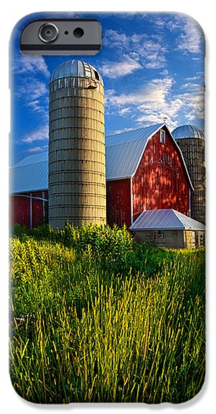Silos iPhone Cases - Lifelong Memories iPhone Case by Phil Koch