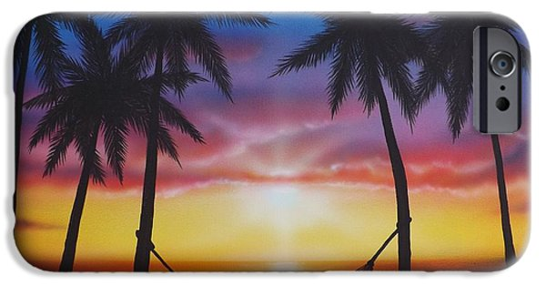 Ocean Sunset iPhone Cases - Lifes a Beach iPhone Case by Darren Robinson