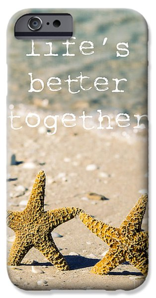 Sand Castles iPhone Cases - Lifes Better Together iPhone Case by Edward Fielding