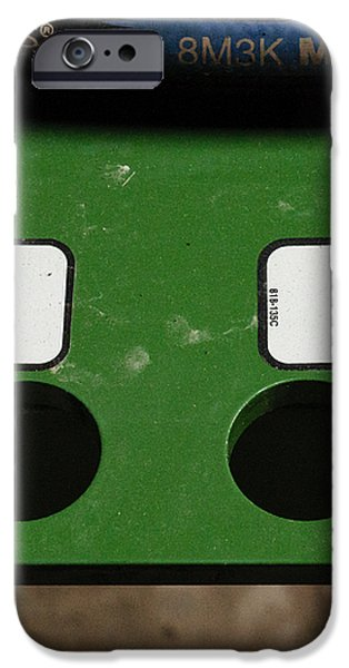 Lift Black Fold Green iPhone Case by Christi Kraft