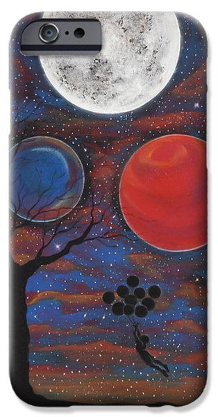 Moonscape iPhone Cases - Lift Off iPhone Case by Cynthia Ring