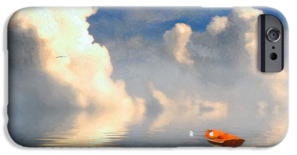 Cape Cod Mixed Media iPhone Cases - Lifting Fog iPhone Case by Michael Petrizzo