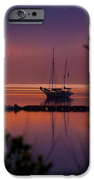 Lifting Morning Fog iPhone Case by Ron Roberts