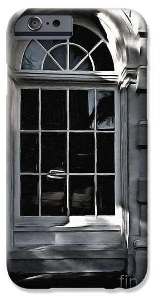 Interior Scene Mixed Media iPhone Cases - Light and Shadow  iPhone Case by Liane Wright