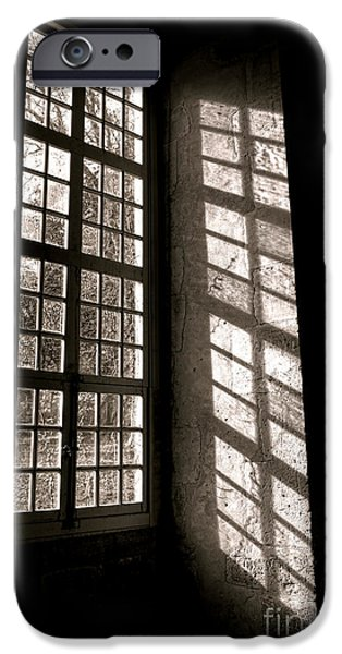 Window iPhone Cases - Light and Shadows iPhone Case by Olivier Le Queinec