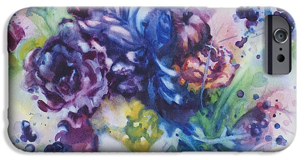 Splashy Paintings iPhone Cases - Light and Sound iPhone Case by Kelly Johnson