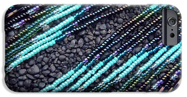 Vibrant Jewelry iPhone Cases - Light As A Feather Seed Bead Design iPhone Case by Melanie Maria Scott