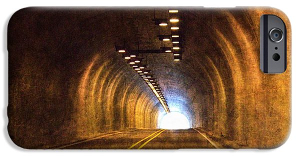 Barbara Chichester Digital iPhone Cases - Light At the End of the Tunnel iPhone Case by Barbara Chichester