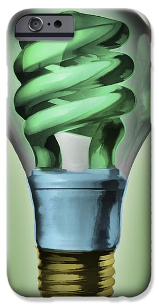 Light Bulb iPhone Case by Bob Orsillo