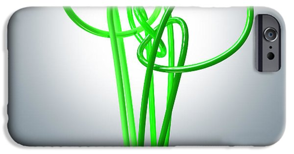 Reform iPhone Cases - Light Bulb Green Energy Flourescent iPhone Case by Allan Swart