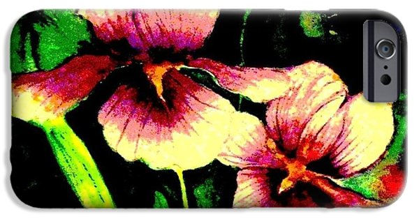 Garden Scene Paintings iPhone Cases - Light Dispels Darkness iPhone Case by Hazel Holland