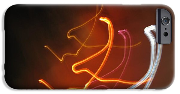 Self Discovery Photographs iPhone Cases - Light Drawing. I..i..i... iPhone Case by Ausra Paulauskaite