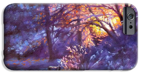 Garden Scene Paintings iPhone Cases - Light Dusting iPhone Case by Bonnie Mason
