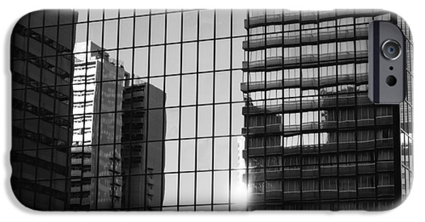 Glass Reflecting iPhone Cases - Light Fading in Downtown Tokyo iPhone Case by Dean Harte