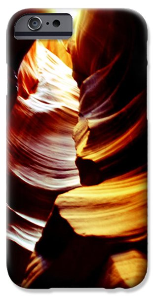 Light From Above - Canyon Abstract iPhone Case by Aidan Moran