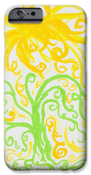 Tree Roots Pastels iPhone Cases - Light From Heaven II iPhone Case by Melissa Bitter