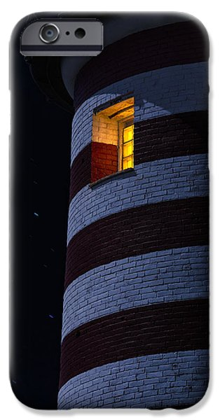 Lighthouses iPhone Cases - Light From Within iPhone Case by Marty Saccone