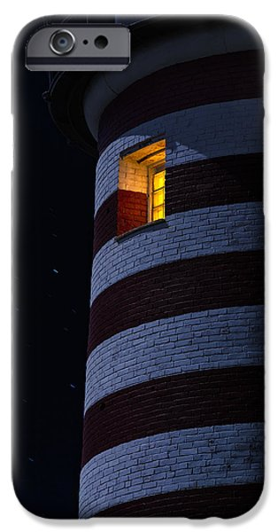 West Quoddy Head Lighthouse iPhone Cases - Light From Within iPhone Case by Marty Saccone