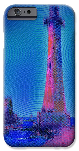 Red Rock iPhone Cases - Light House At Sunset 1 iPhone Case by Tony Rubino