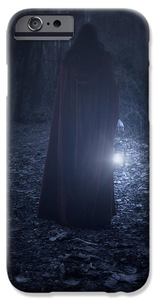 Night Lamp iPhone Cases - Light In The Dark iPhone Case by Joana Kruse