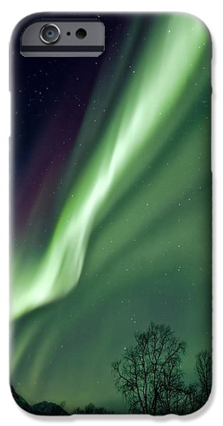 Aurora iPhone Cases - Light in the Sky iPhone Case by Dave Bowman