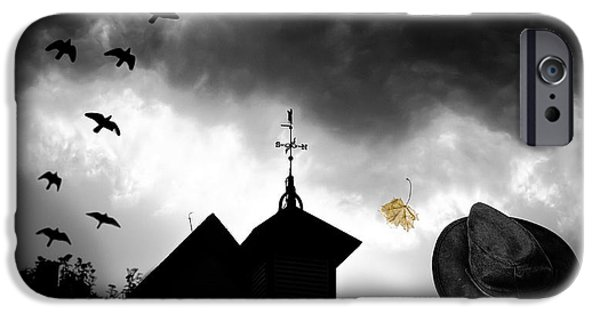 Macabre iPhone Cases - Light In The Window iPhone Case by Bob Orsillo