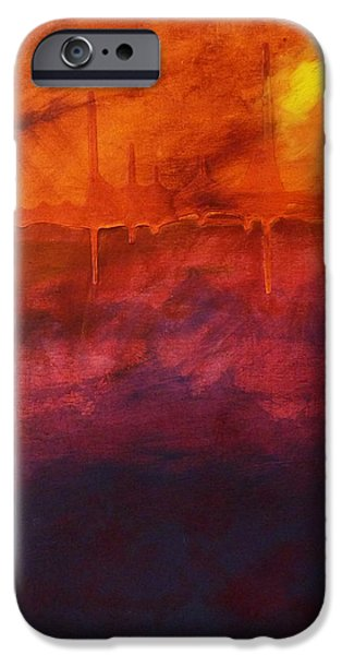 Abstract Expressionist iPhone Cases - Light iPhone Case by Nancy Merkle