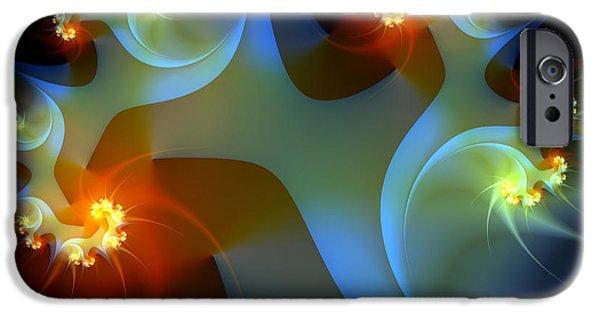 Fractal iPhone Cases - Light Object-Fractal Art iPhone Case by Karin Kuhlmann