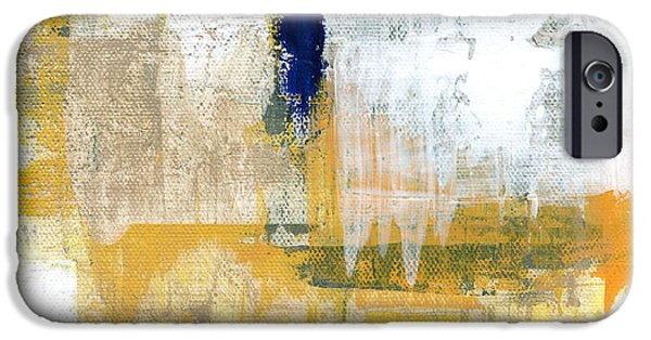 Abstracted Mixed Media iPhone Cases - Light Of Day 2 iPhone Case by Linda Woods